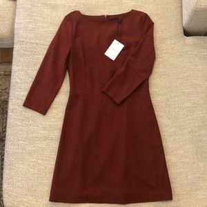 Theory shift dress with sleeves